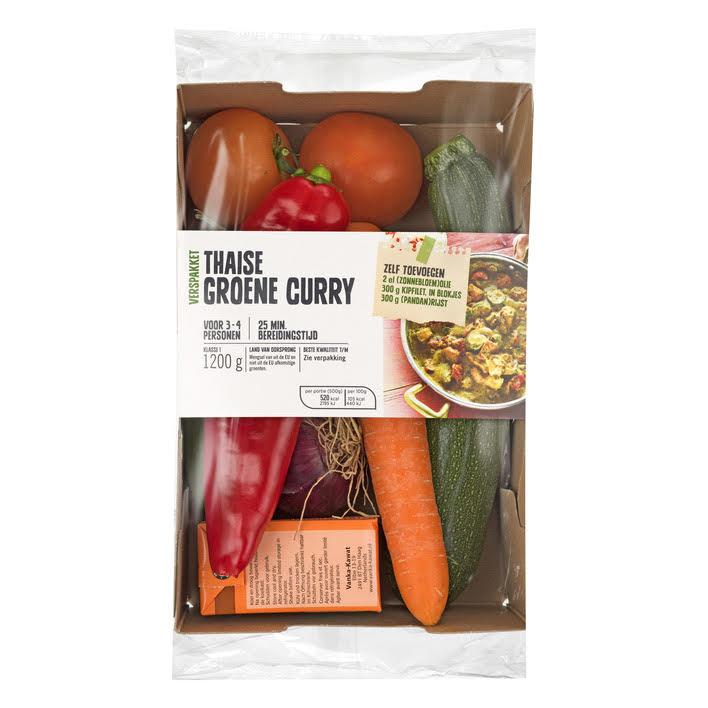 Verspakket Groene curry met kartonnen JASA sleeve