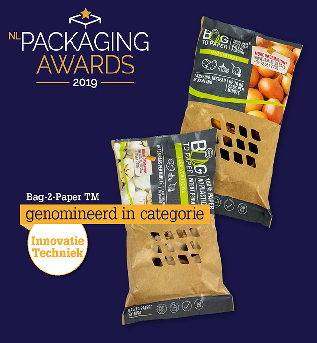 Nominatie Packaging Awards 2019